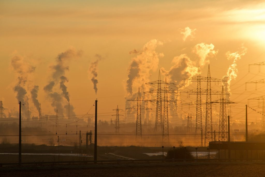 Luftverschmutzung durch Industrie.